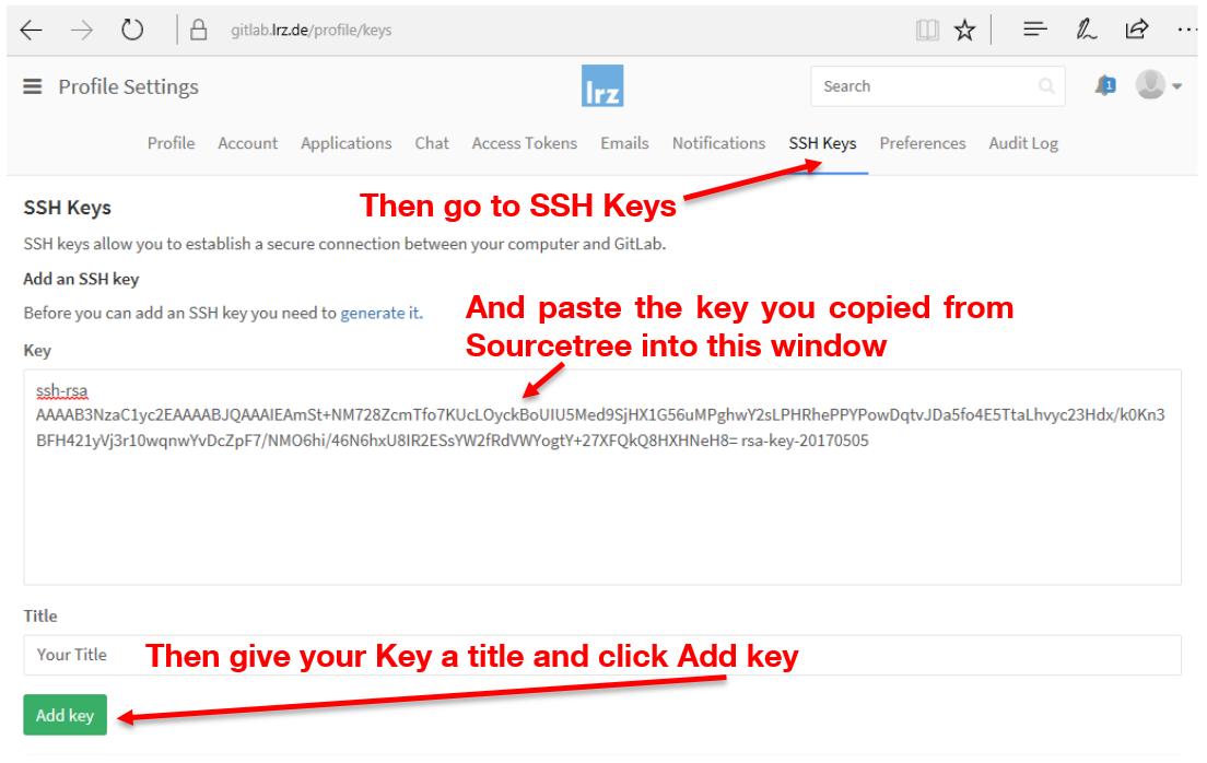 Sourcetree Ssh Key Gitlab